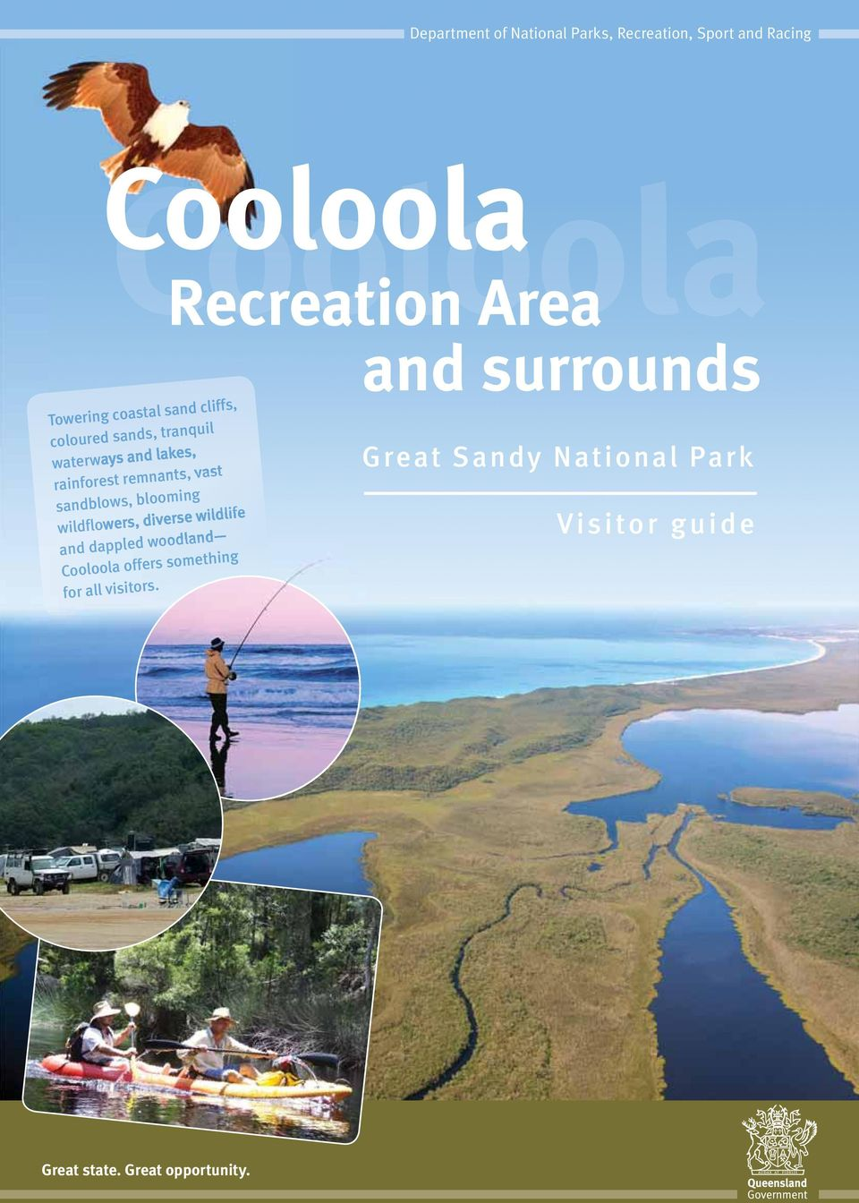sandblows, blooming wildflowers, diverse wildlife and dappled woodland Cooloola offers something