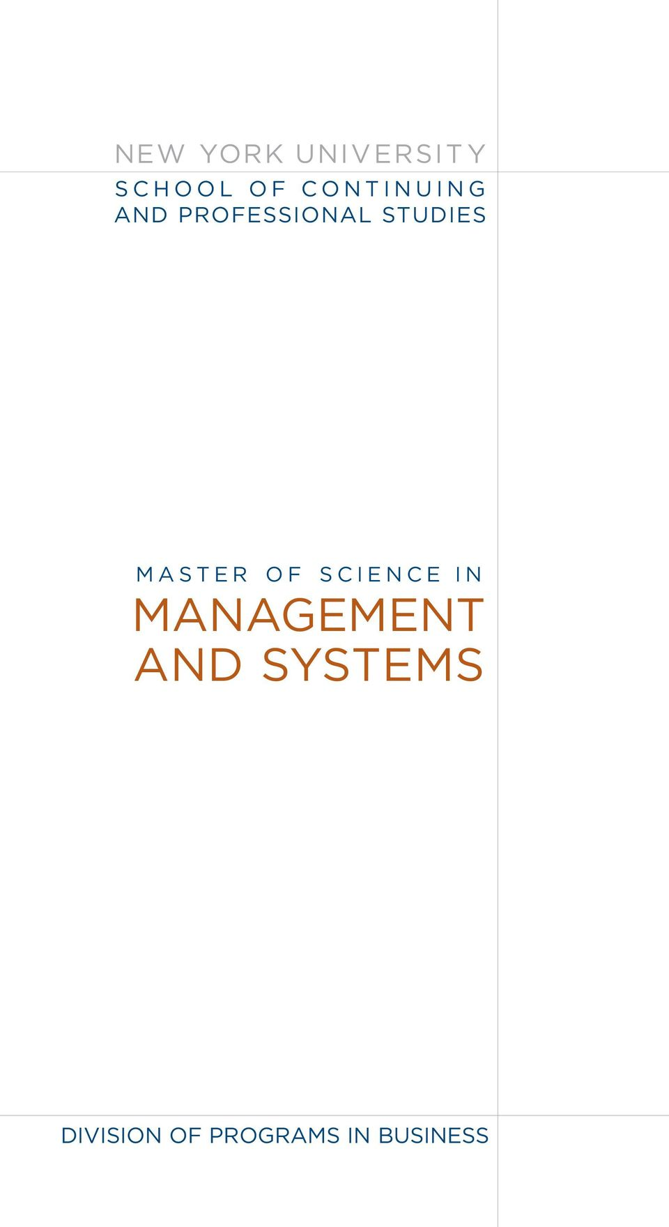 MASTER OF SCIENCE IN MANAGEMENT AND