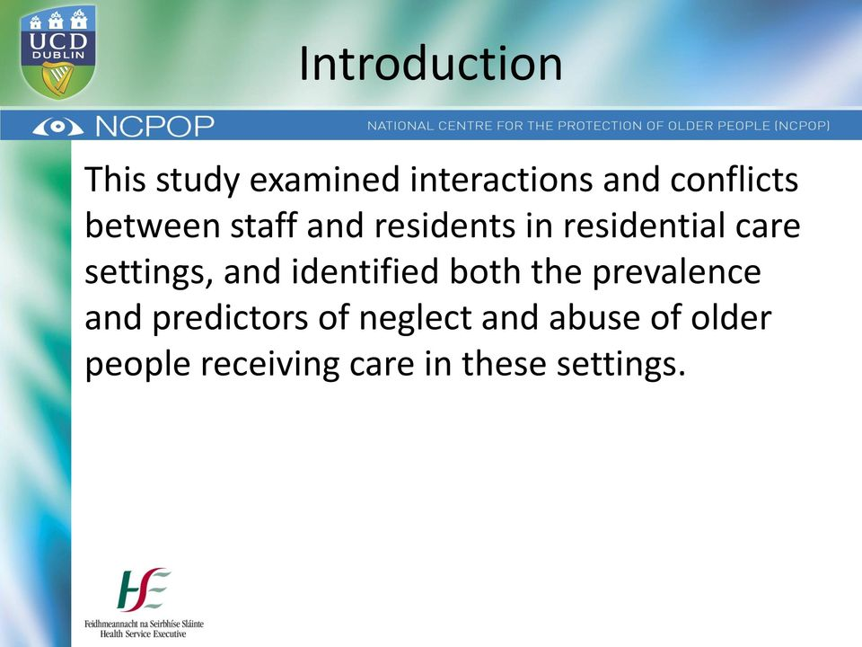 care of people in residential setting Comparison of characteristics of nursing homes and other residential long-term care settings for people with dementia.