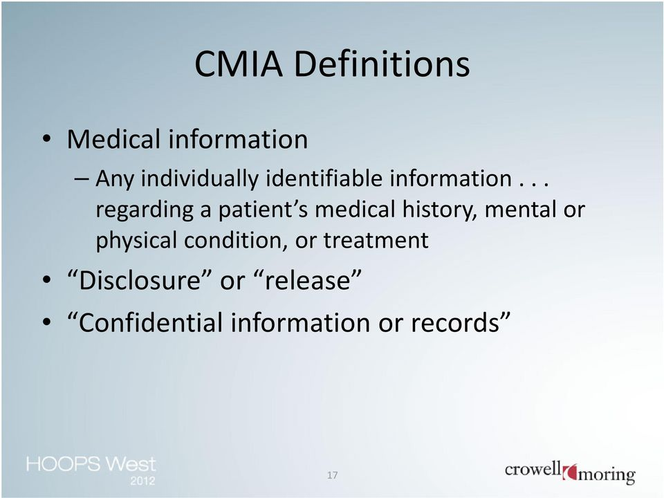 .. regarding a patient s medical history, mental or