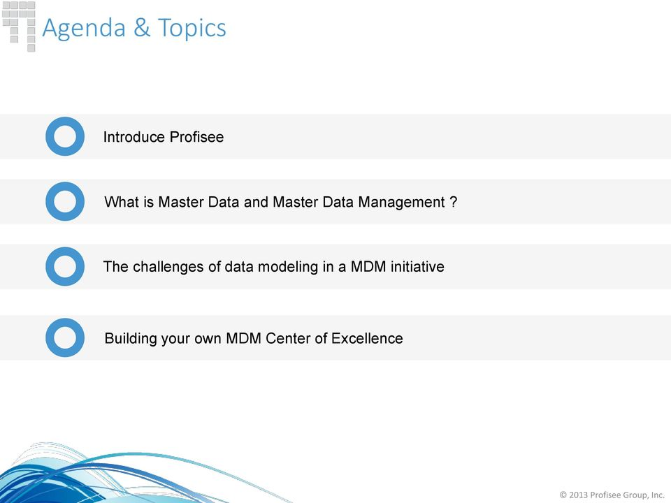 The challenges of data modeling in a MDM