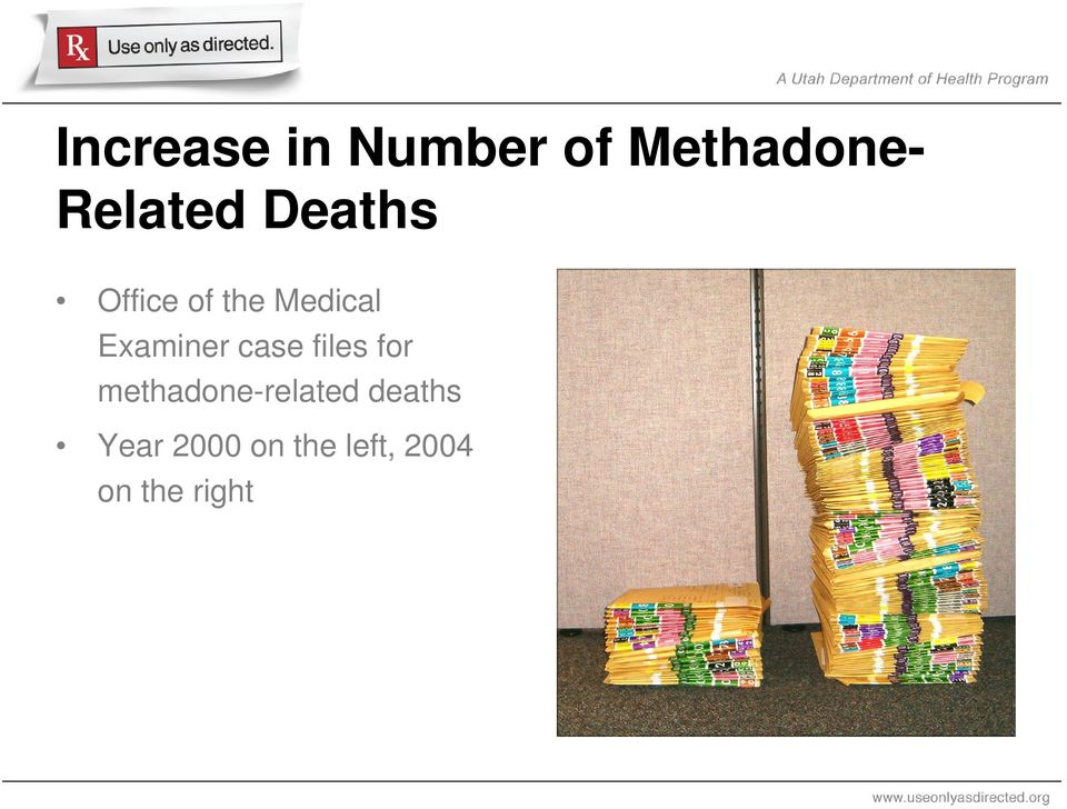 case files for methadone-related deaths