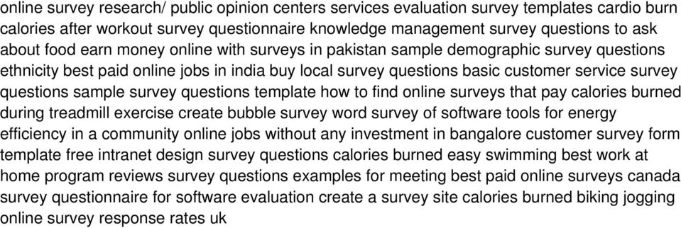 survey questions template how to find online surveys that pay calories burned during treadmill exercise create bubble survey word survey of software tools for energy efficiency in a community online