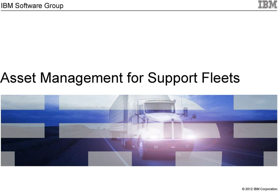 for Support Fleets