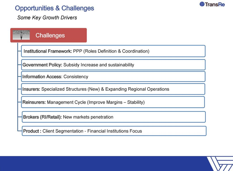 Specialized Structures (New) & Expanding Regional Operations Reinsurers: Management Cycle (Improve Margins