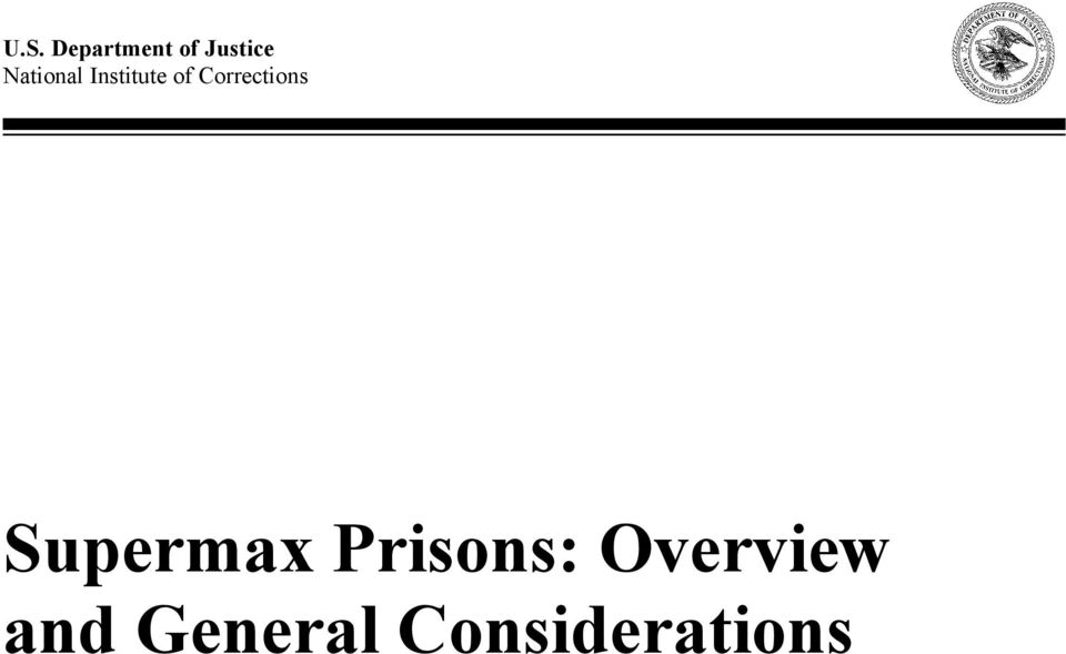 Corrections Supermax