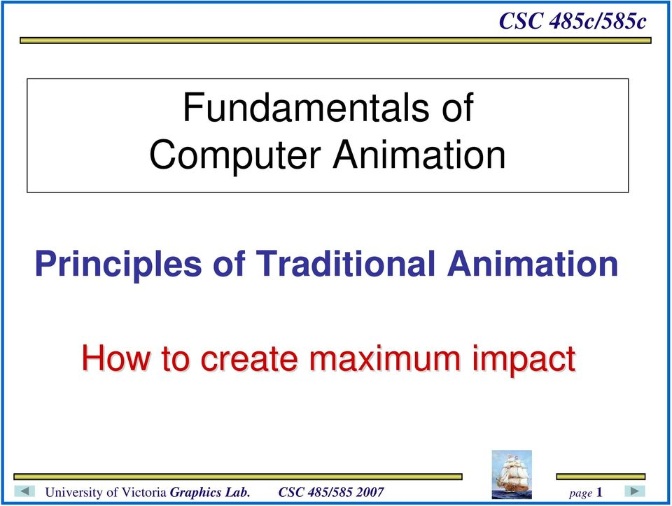 Traditional Animation How