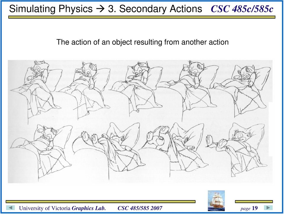 action of an object