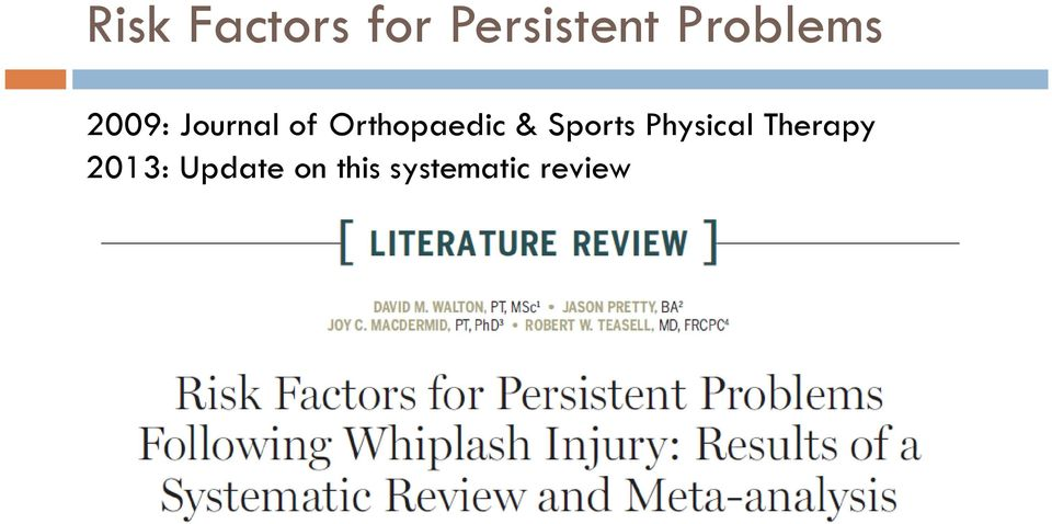 Orthopaedic & Sports Physical