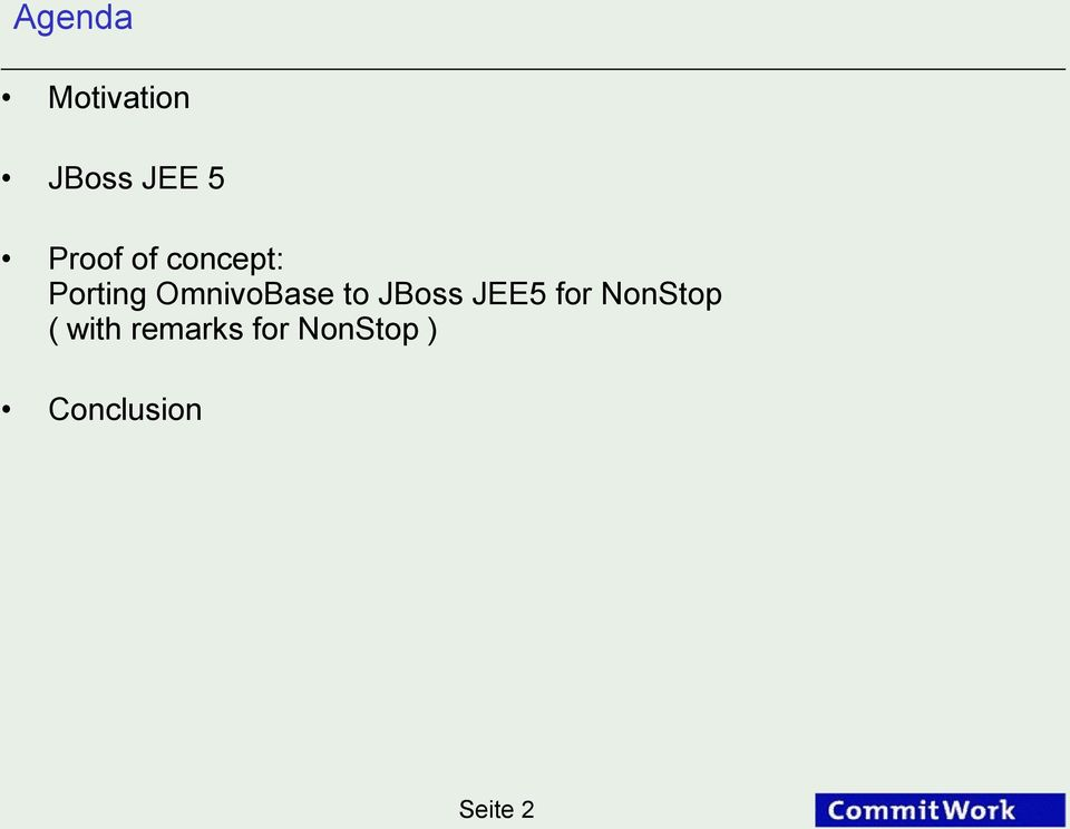 OmnivoBase to JBoss JEE5 for