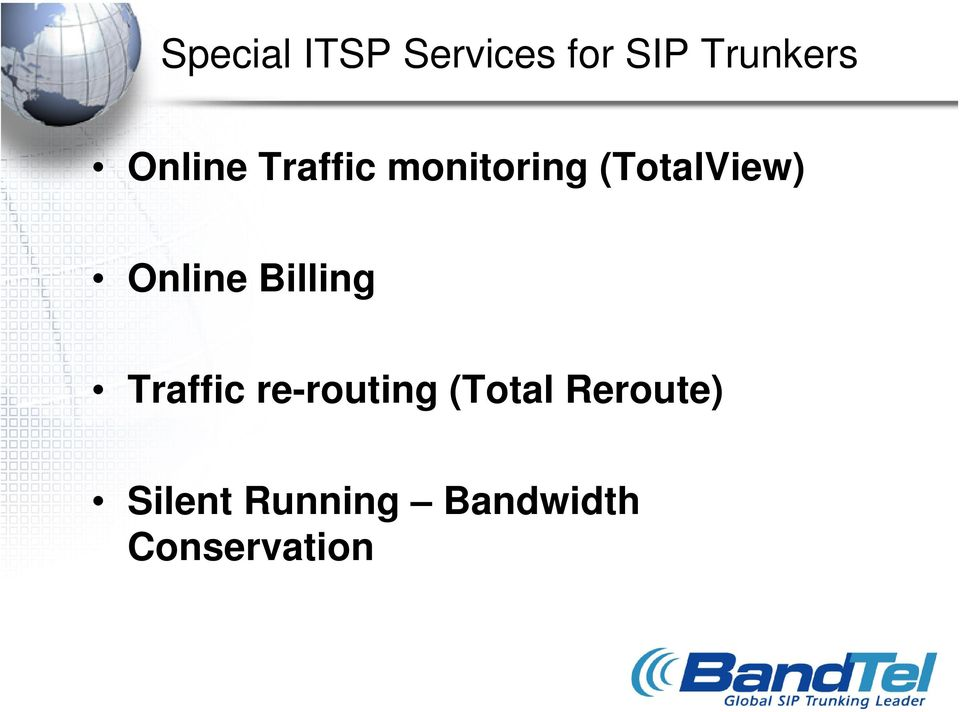 Online Billing Traffic re-routing (Total