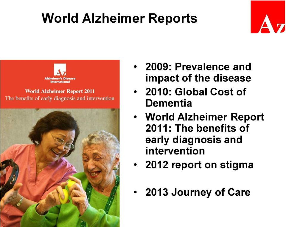 Alzheimer Report 2011: The benefits of early diagnosis