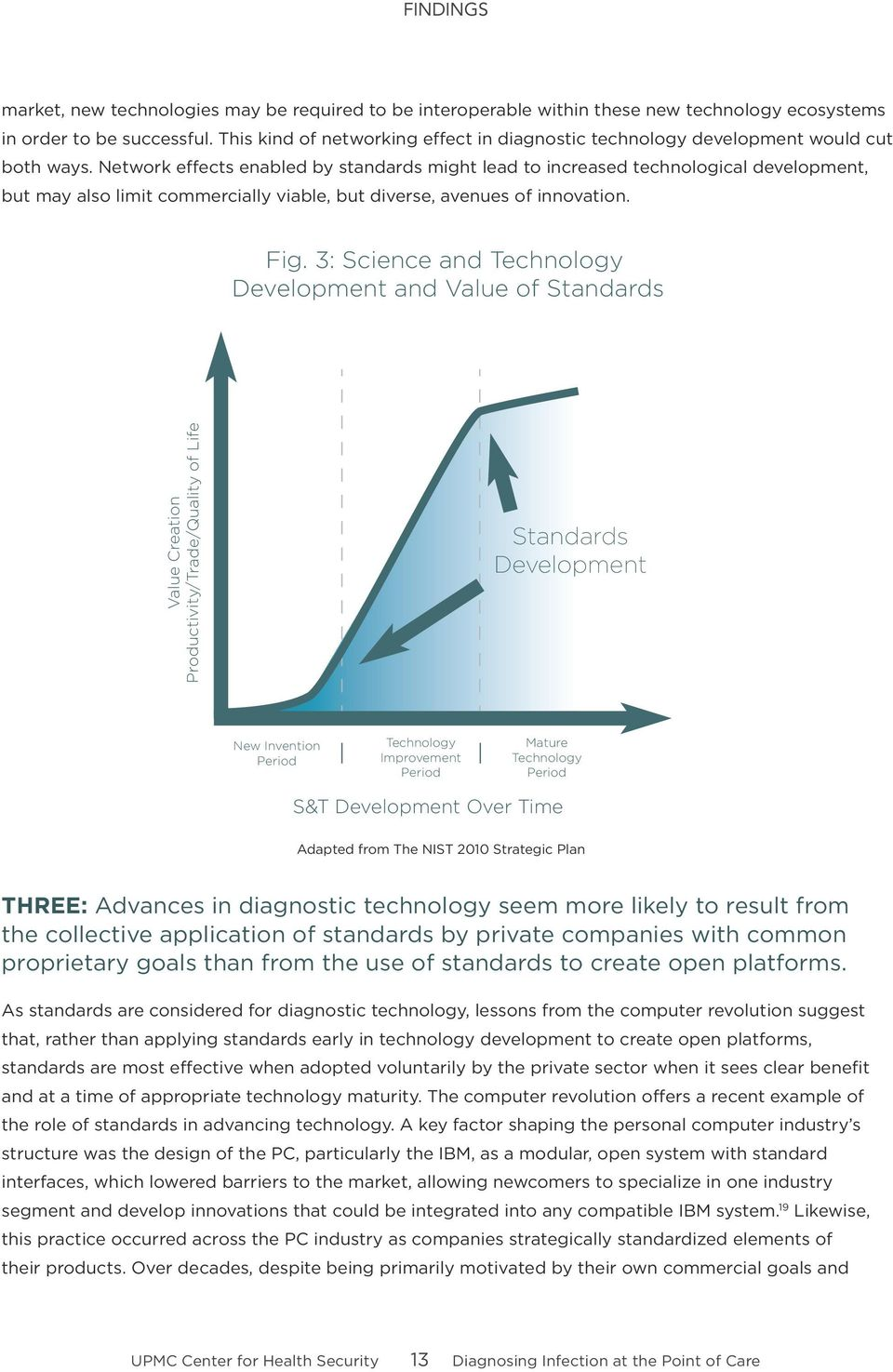 Network effects enabled by standards might lead to increased technological development, but may also limit commercially viable, but diverse, avenues of innovation. Fig.