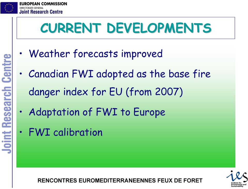 base fire danger index for EU (from