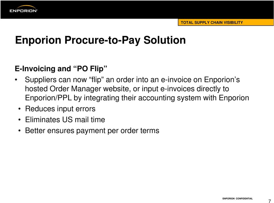 e-invoices directly to Enporion/PPL by integrating their accounting system with