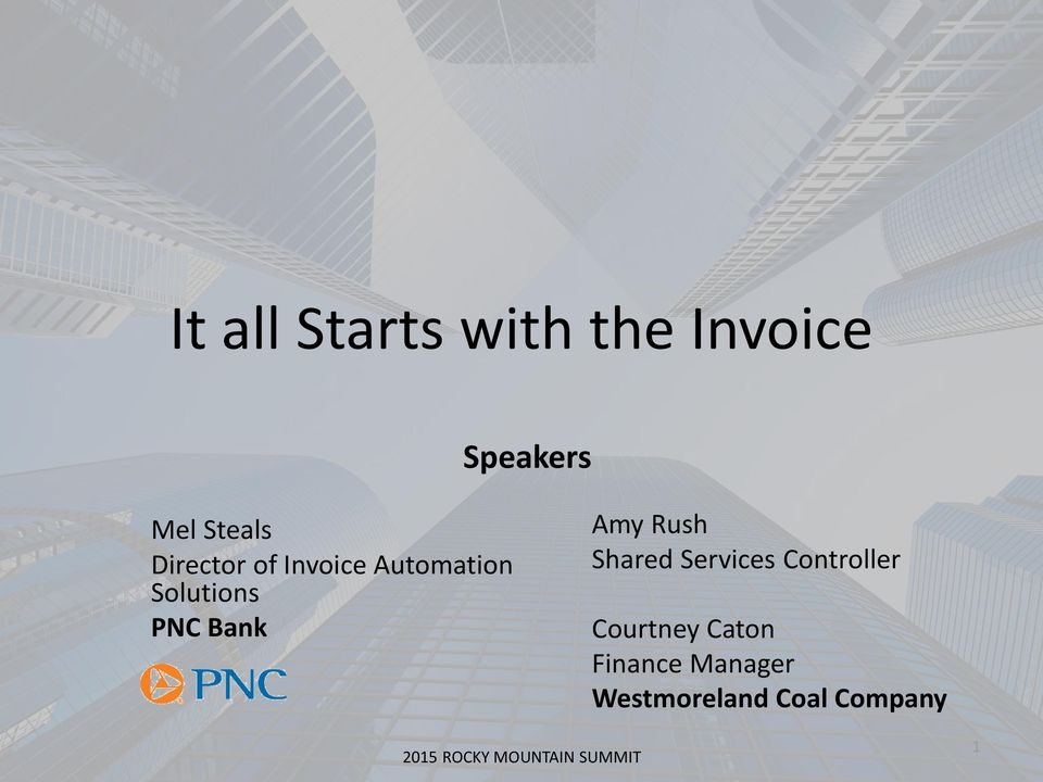 PNC Bank Amy Rush Shared Services Controller