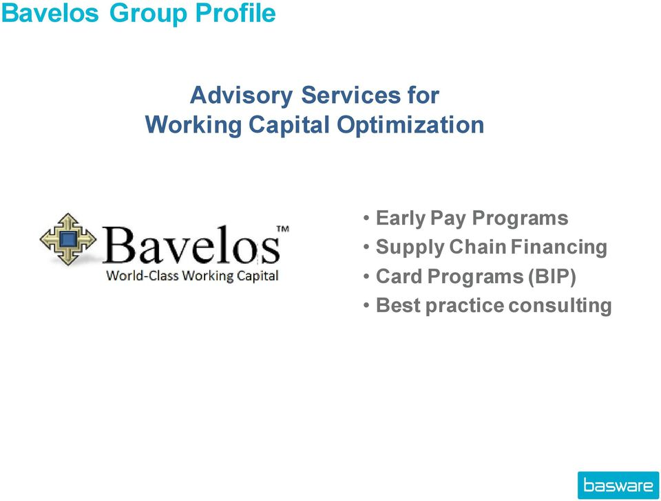 Pay Programs Supply Chain Financing