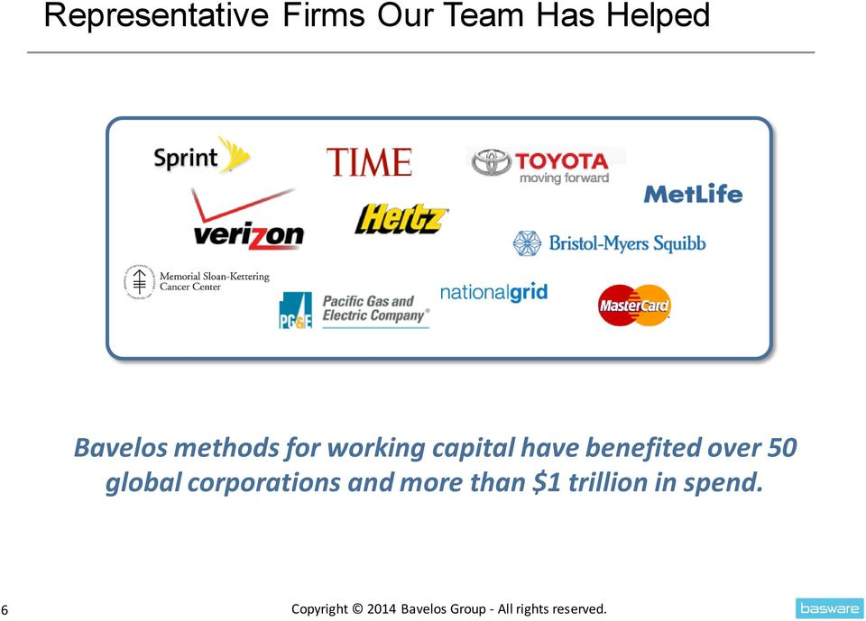 global corporations and more than $1 trillion in