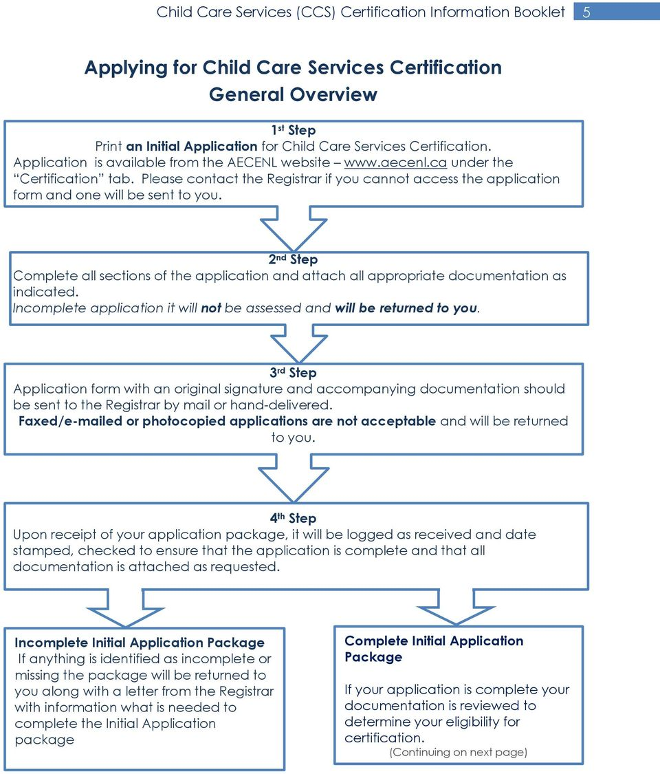 2 nd Step Complete all sections of the application and attach all appropriate documentation as indicated. Incomplete application it will not be assessed and will be returned to you.