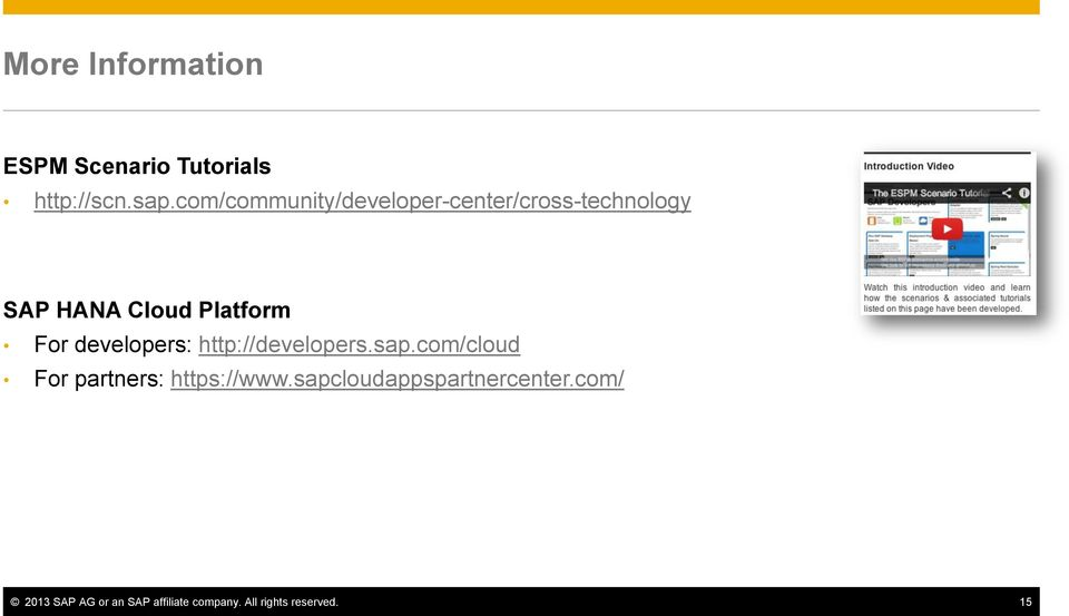 For developers: http://developers.sap.com/cloud For partners: https://www.