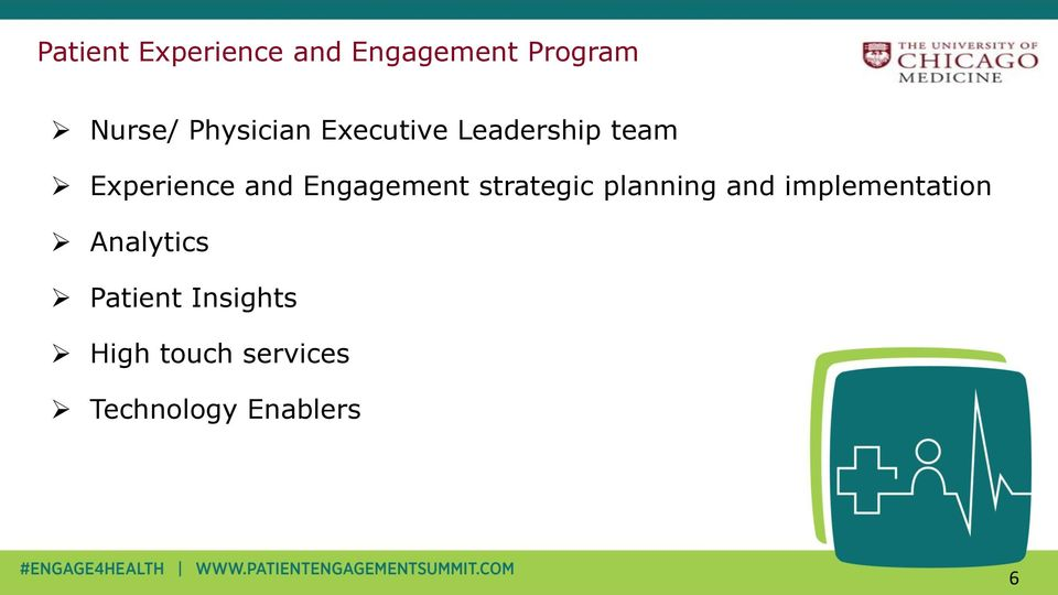 Engagement strategic planning and implementation