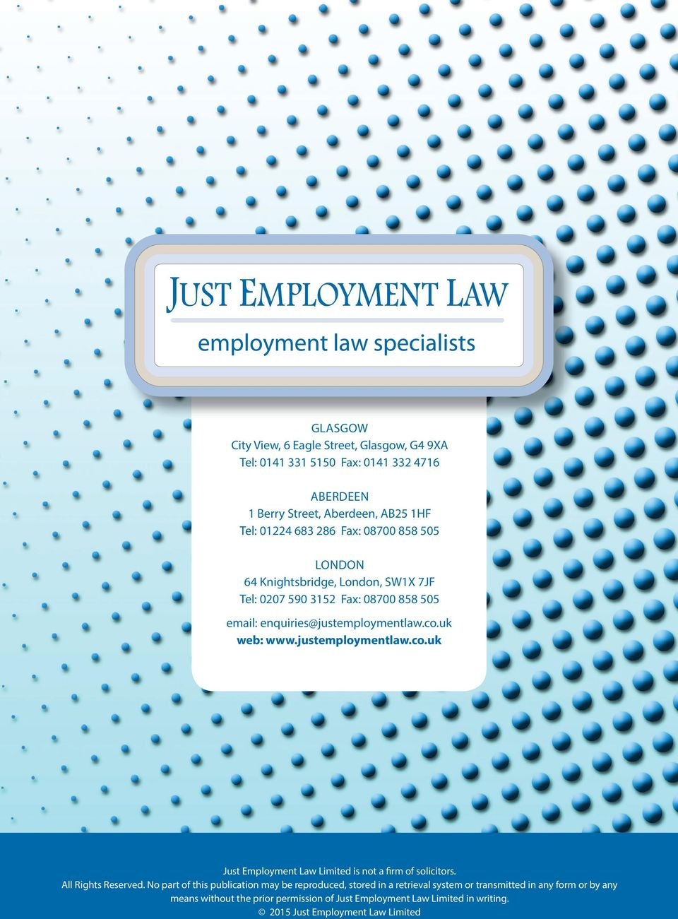 justemploymentlaw.co.uk Just Employment Law Limited is not a firm of solicitors. All Rights Reserved.