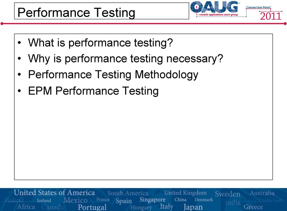 Why is performance testing