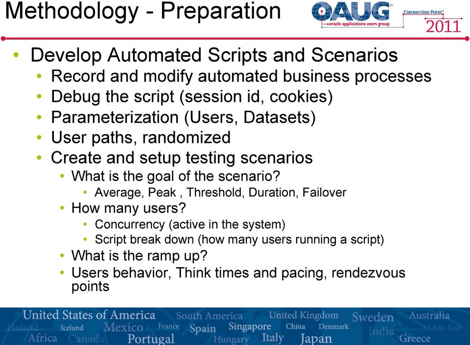 is the goal of the scenario? Average, Peak, Threshold, Duration, Failover How many users?