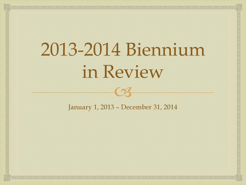 Review January