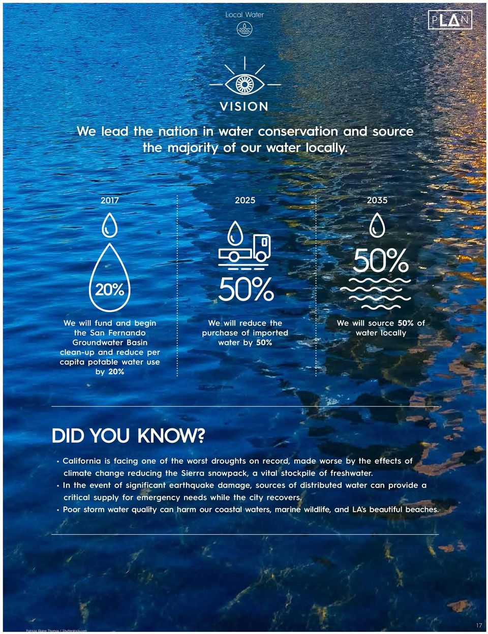 will source 50% of water locally DID YOU KNOW?