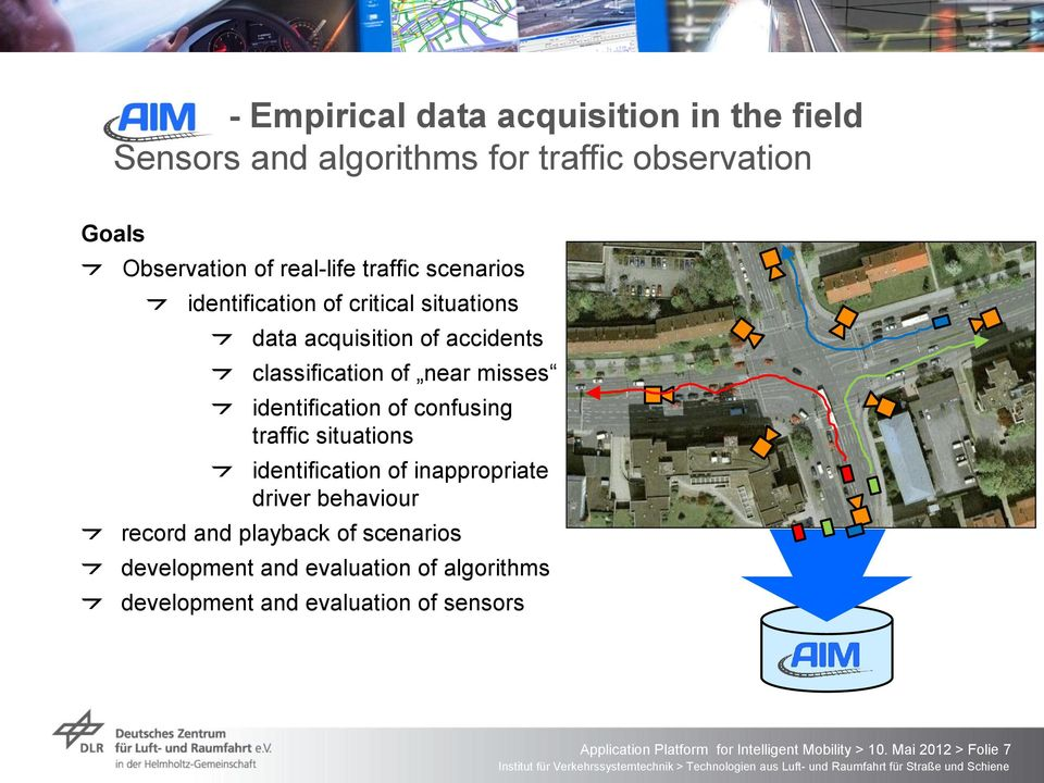 confusing traffic situations identification of inappropriate driver behaviour record and playback of scenarios development and