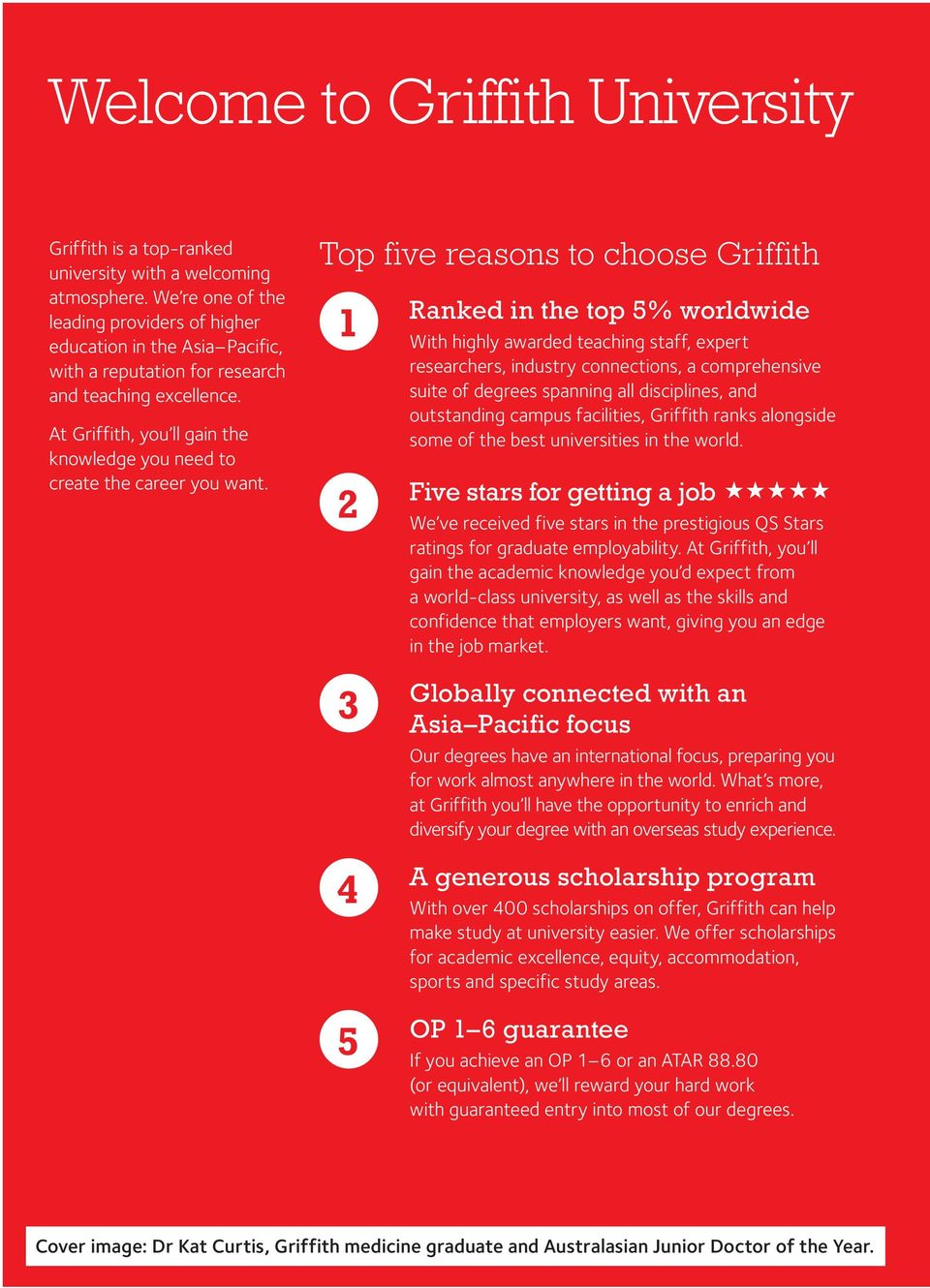At Griffith, you ll gain the knowledge you need to create the career you want.