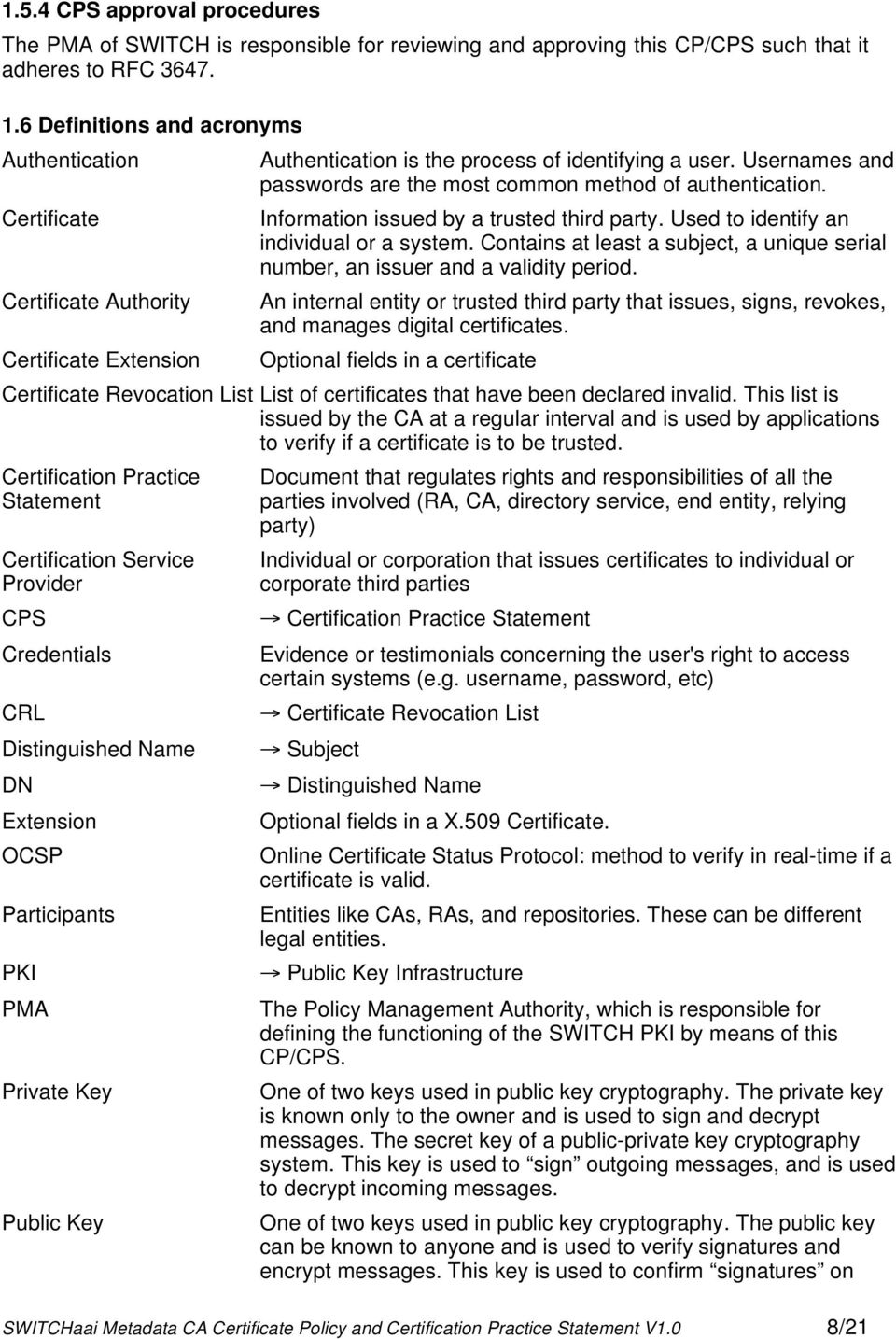 Certificate Information issued by a trusted third party. Used to identify an individual or a system. Contains at least a subject, a unique serial number, an issuer and a validity period.