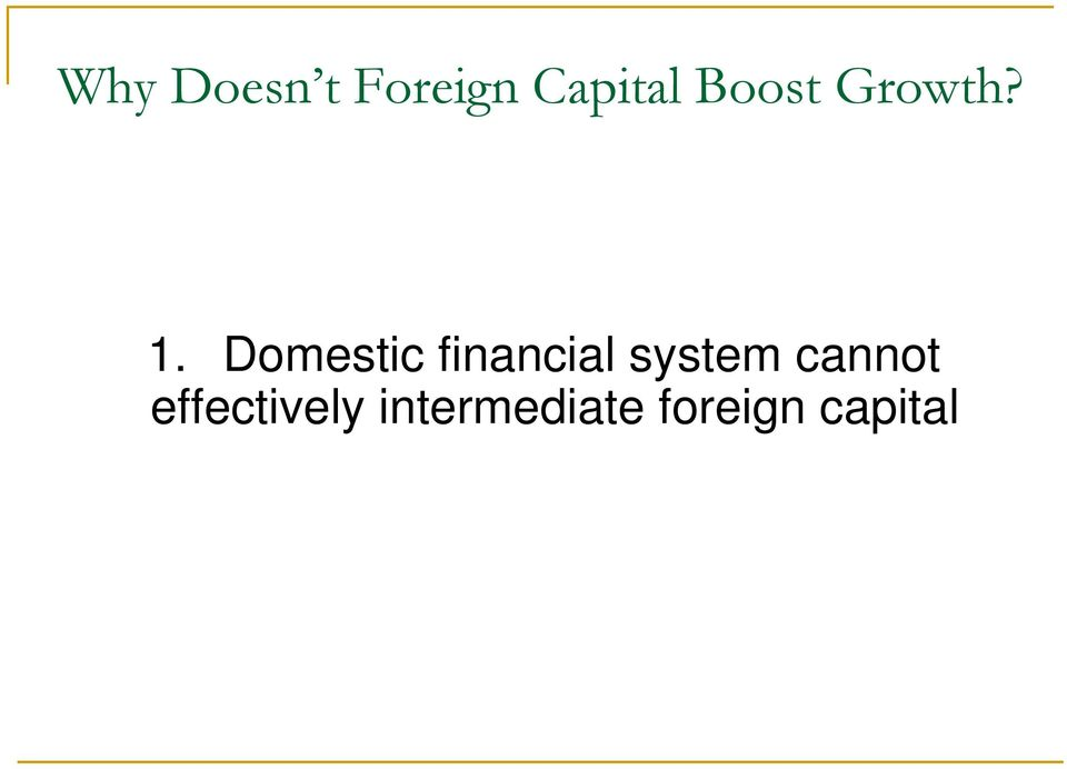Domestic financial system