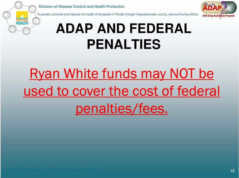of federal penalties/fees.