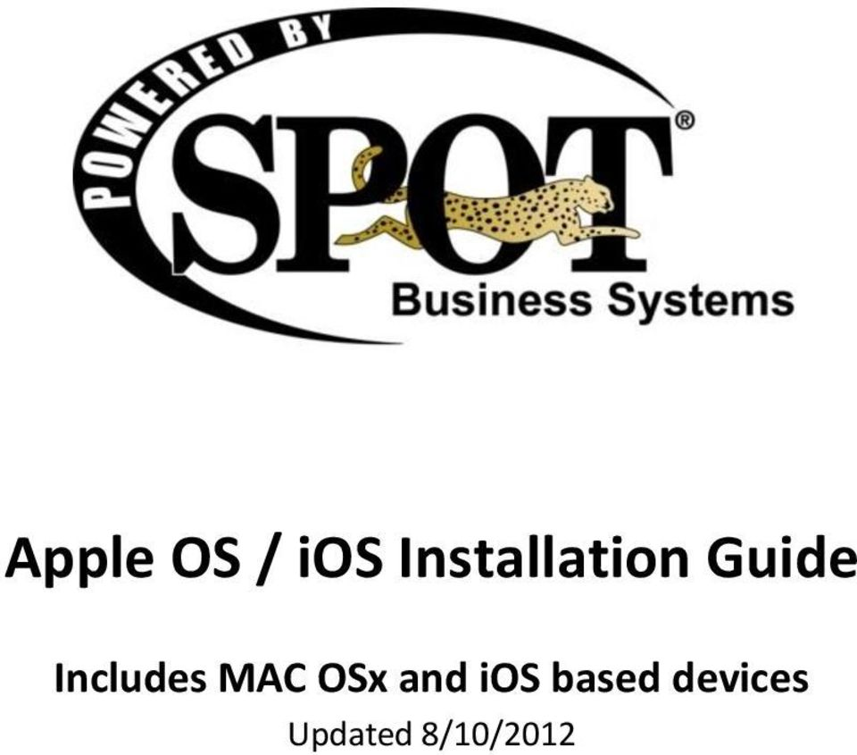 Includes MAC OSx and