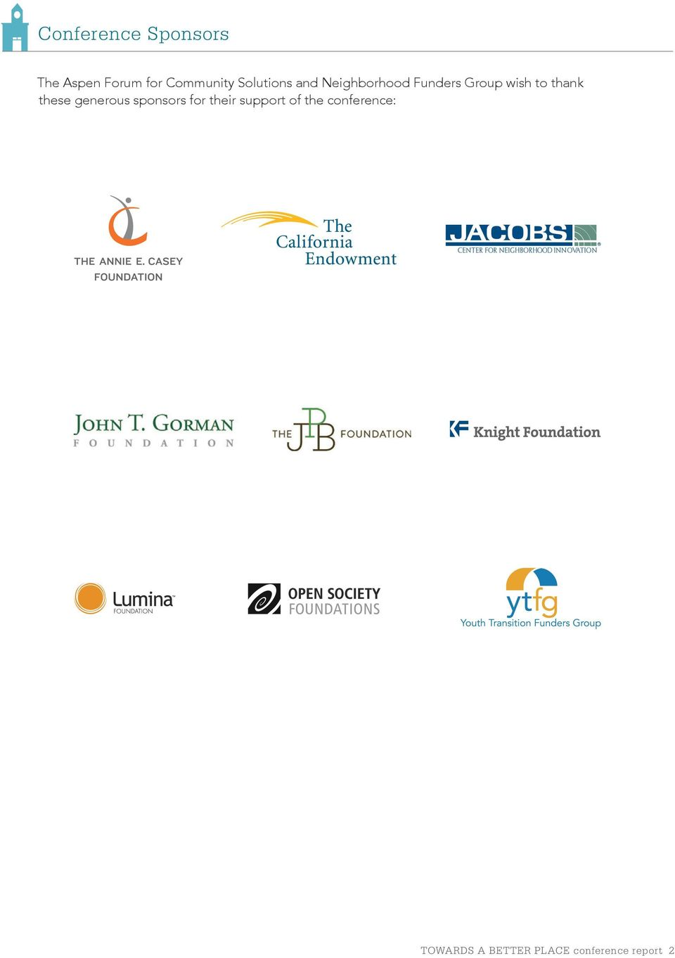 thank these generous sponsors for their support of