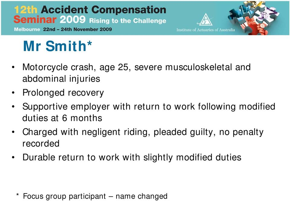 at 6 months Charged with negligent riding, pleaded guilty, no penalty recorded