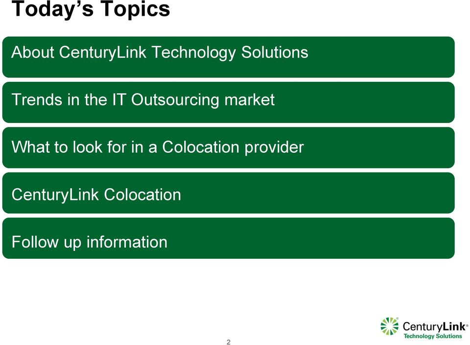 market What to look for in a Colocation