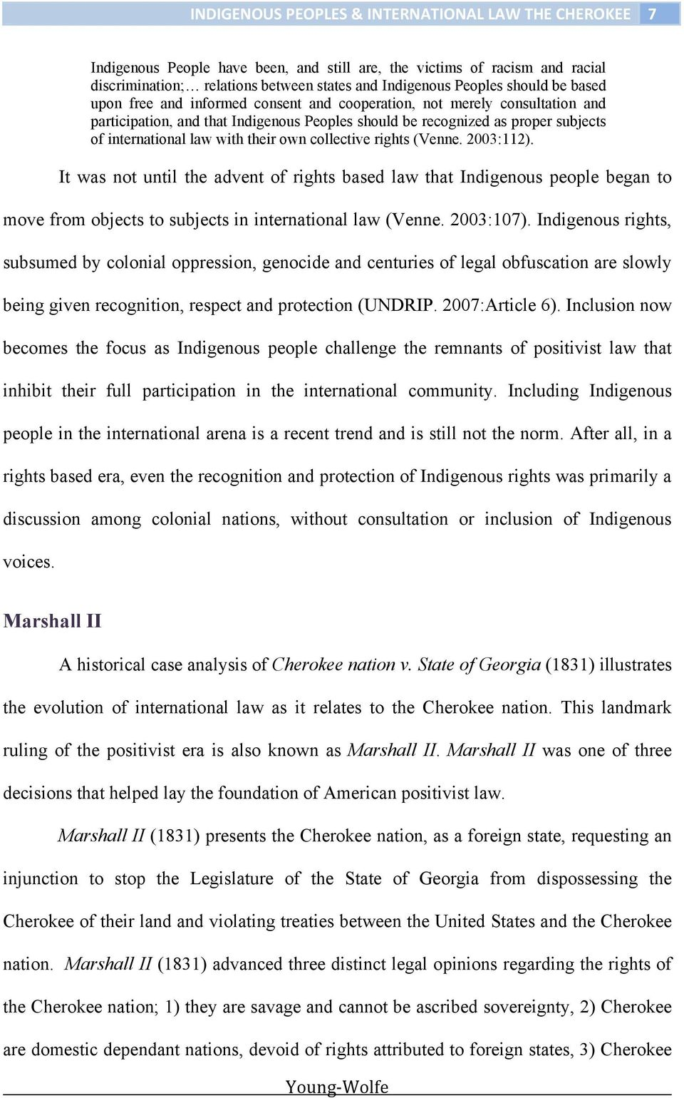 indigenous peoples as subjects of international law