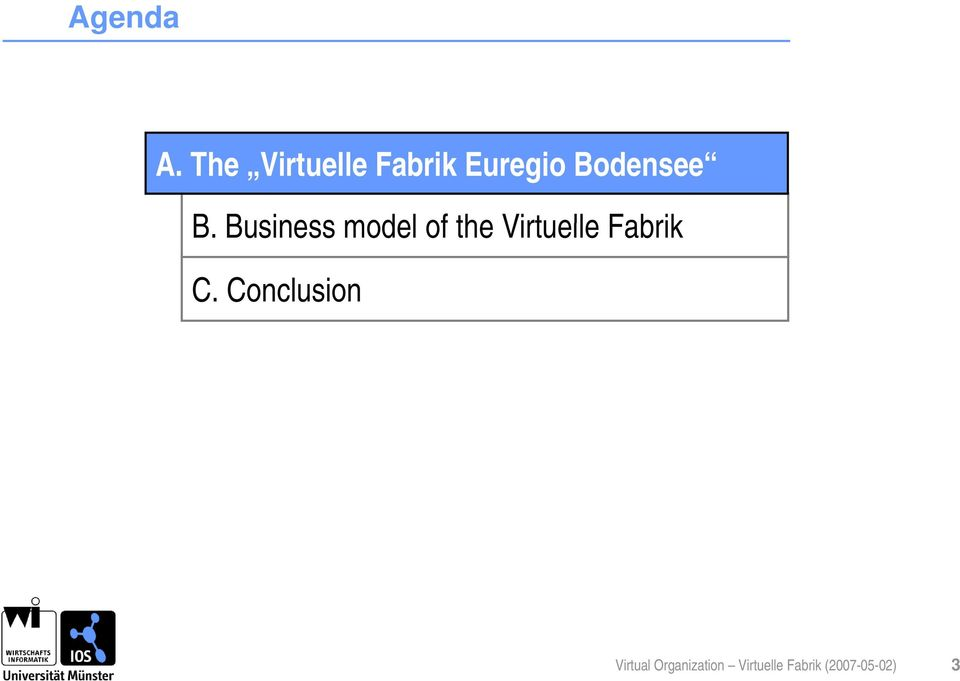 B. Business model of the Virtuelle