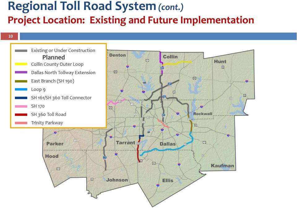 Under Construction Planned Collin County Outer Loop Dallas North