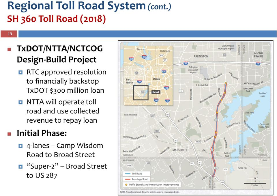 resolution to financially backstop TxDOT $300 million loan NTTA will operate toll