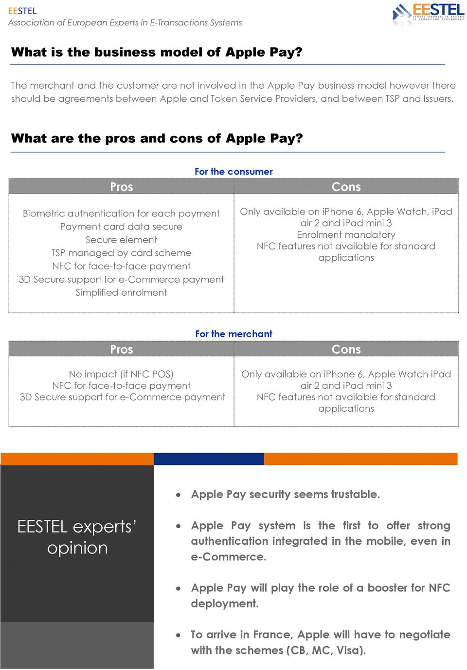 What are the pros and cons of Apple Pay?