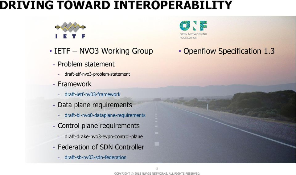 requirements - draft-bl-nvo0-dataplane-requirements - Control plane requirements Openflow
