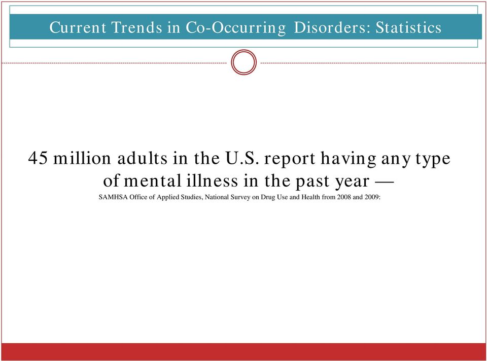 report having any type of mental illness in the past year