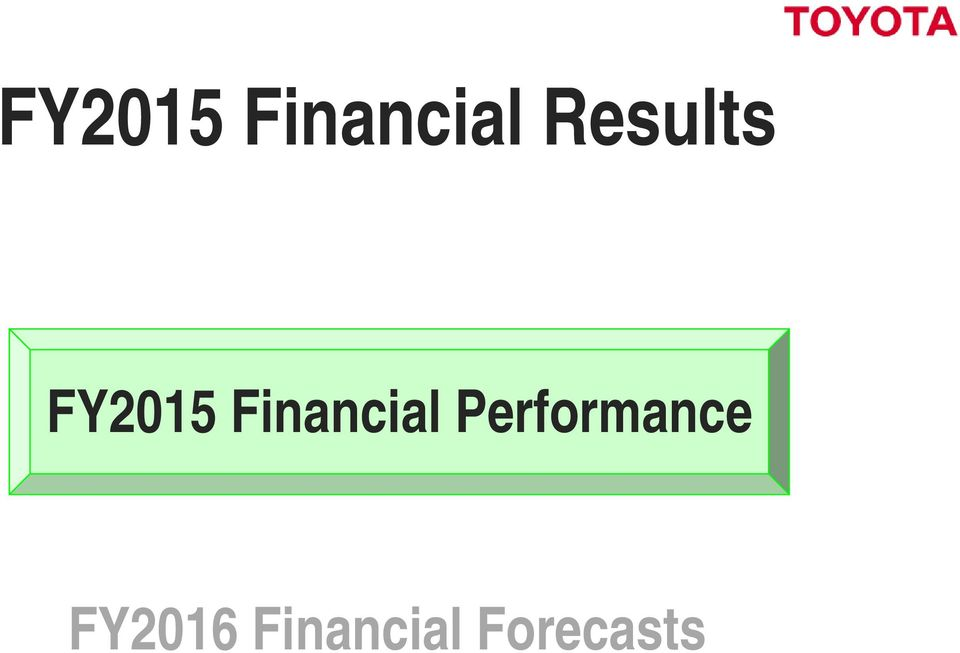 Performance FY2016