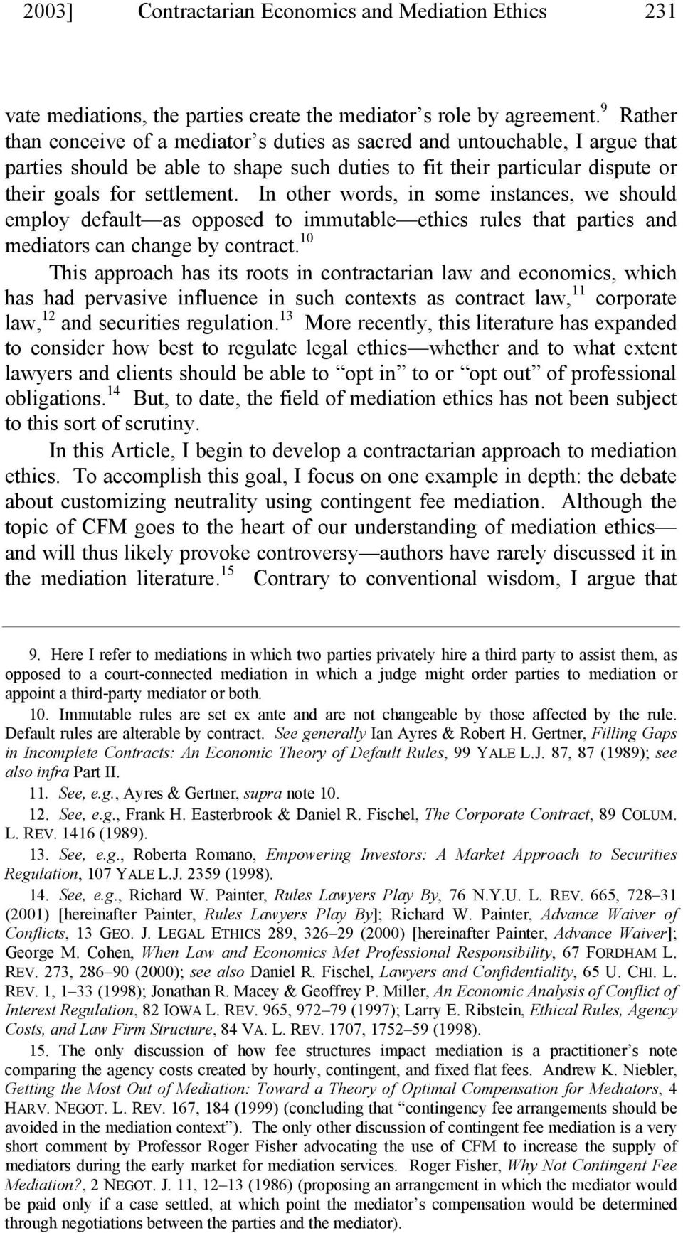 mediation ethics articles