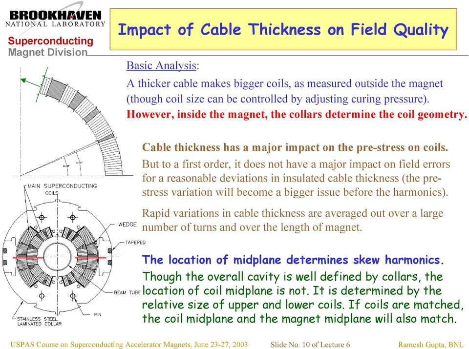 But to a first order, it does not have a major impact on field errors for a reasonable deviations in insulated cable thickness (the prestress variation will become a bigger issue before the