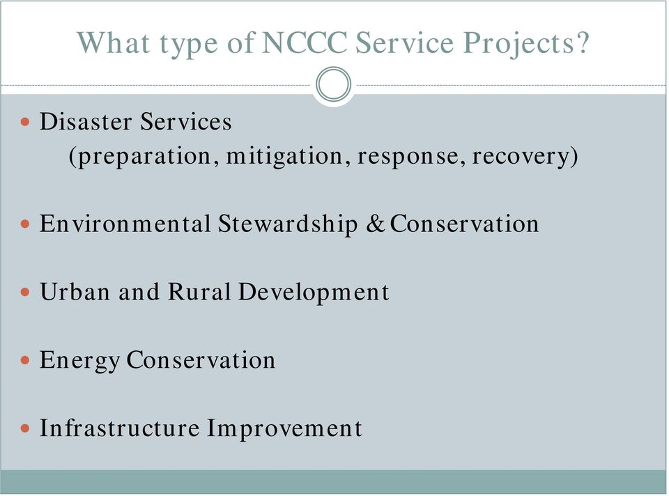 recovery) Environmental Stewardship & Conservation